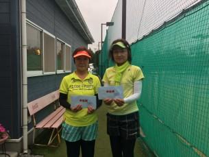 準優勝 水越・高野(あさきテニスクラブ