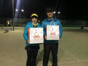 優勝  青木・田島(フリー・みんなのテニス)