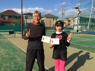 準優勝  水橋・長島(みんなのテニス)