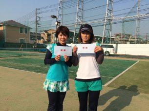 優勝 田島・片岡(みんなのテニス・あさきTC)