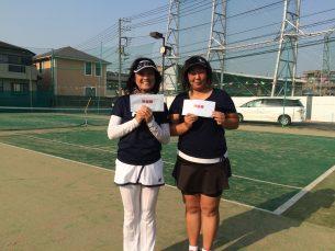 準優勝 笹島・久保(ミルキー・みんなのテニス)
