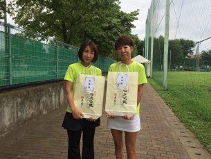 準優勝 小林・葛西(京王テニス)