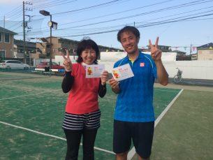 優勝 高山・田中(みんなのテニス)