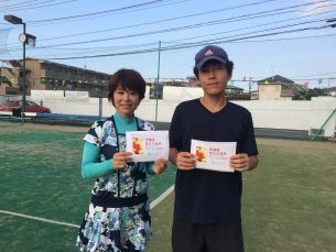 準優勝 渡邊・田島(みんなのテニス)