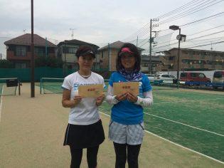 準優勝 久保・上原(みんなのテニス・与野ITC)